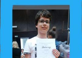 Нашем ученику прва награда на републичком такмичењу